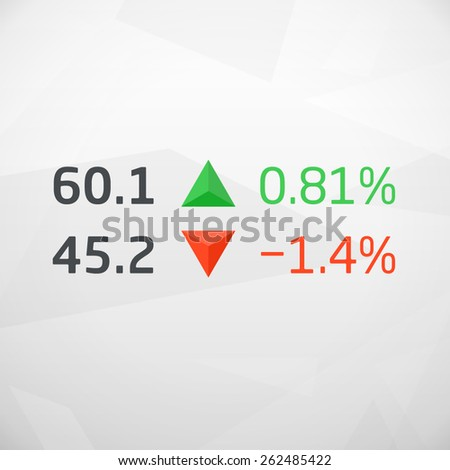 Vector Stock Market Data with Arrows, vector illustration - stock vector