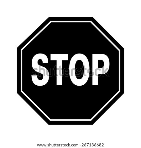 Vector stop sign and icon, EPS10  - stock vector