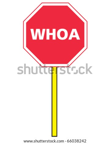 vector stop sign for horses, whoa