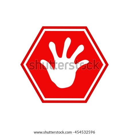 Vector Stop Sign Red isolated on white background
