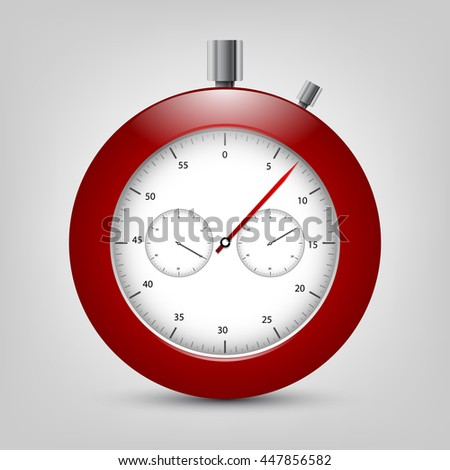 Vector stopwatch. Classic stopwatch vector EPS 10. Elements for your design - stock vector