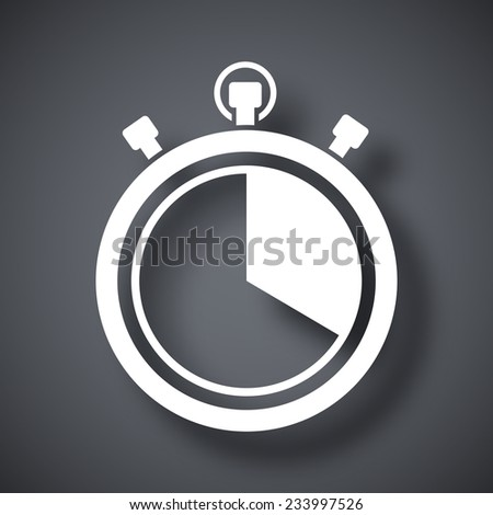 Vector stopwatch icon - stock vector
