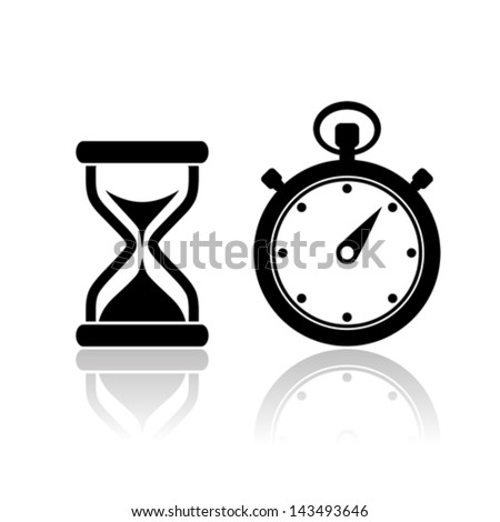 Vector stopwatch icons - stock vector