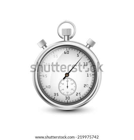vector stopwatch on white background - stock vector