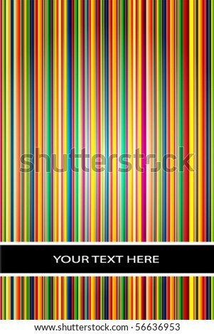 Vector stripe background/cover with space for text - stock vector