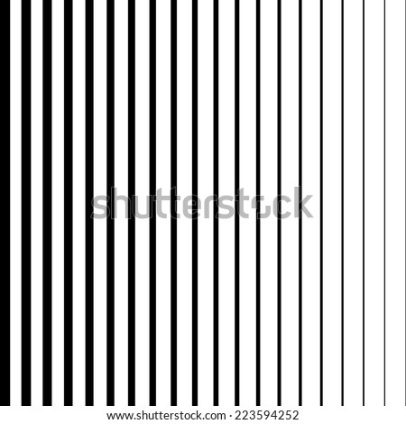 Vector Striped Background with Black and White Stripes . - stock vector