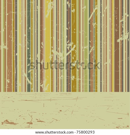 vector striped grunge background - stock vector