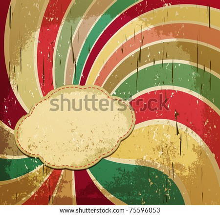 Vector striped grunge background with space for text - stock vector