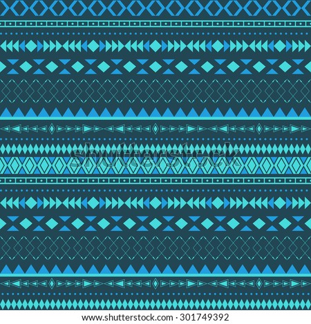 Vector stripes pattern. Tribal seamless texture. - stock vector
