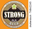 vector strong beer label - stock vector