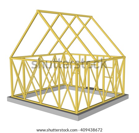 Vector  Structure of house in construction.  - stock vector