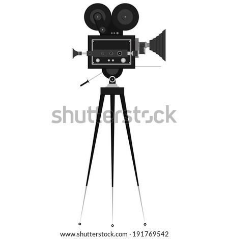 Vector Studio Camera Icons Isolated On White Background