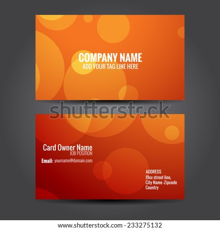 vector stylish business card template design - stock vector