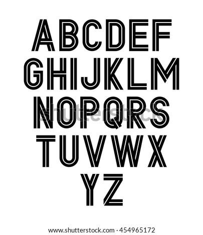 Vector stylish font. - stock vector