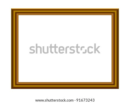 Vector Stylish Gold Frame