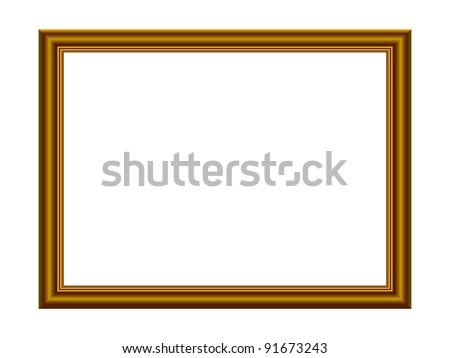 Vector Stylish Gold Frame - stock vector