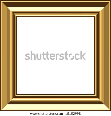 Vector Stylish Gold Frame, Also See Jpeg In My Portfolio - stock vector