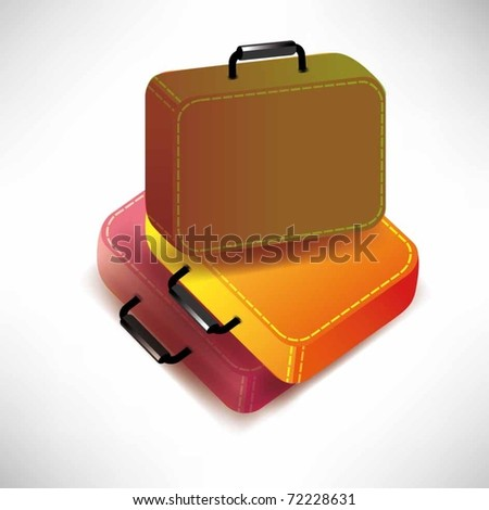 vector suitcases isolated on white background - stock vector