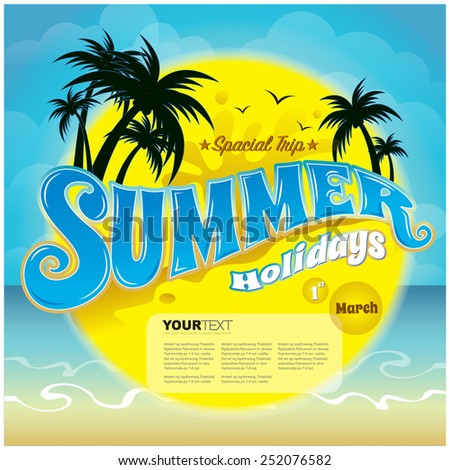 vector summer holiday poster