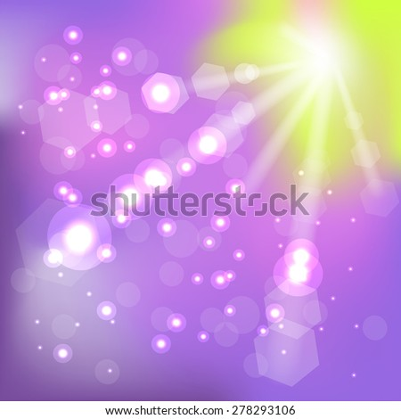 Vector Summer Hot Sun Background for Your Design