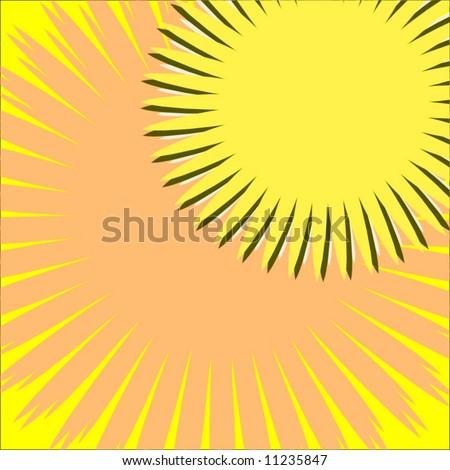 Vector Summer Sun Background - stock vector