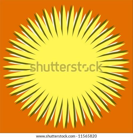 Vector Summer Sunshine - stock vector