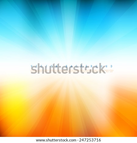 Vector Summer time background.  Illustration of soft colored abstract background - stock vector