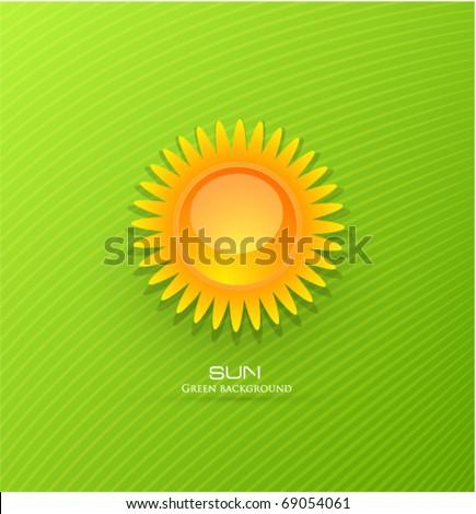 Vector sun background - stock vector