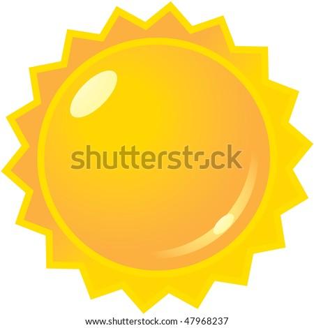 vector sun icon graphic - stock vector