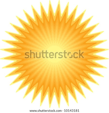 vector sunburst shape - stock vector