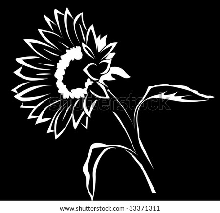 Sunflower Silhouette Stock Images, Royalty-Free Images ...