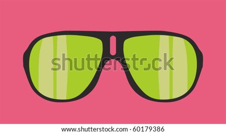 vector sunglasses - stock vector