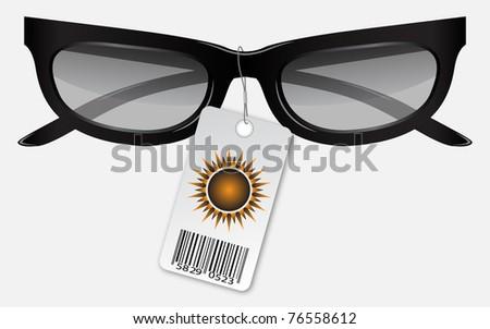 vector sunglasses - stock vector