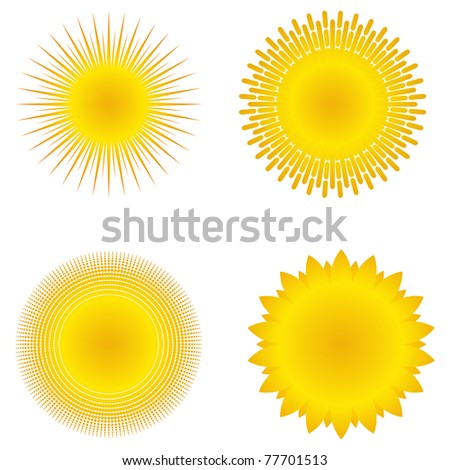 Vector suns - stock vector