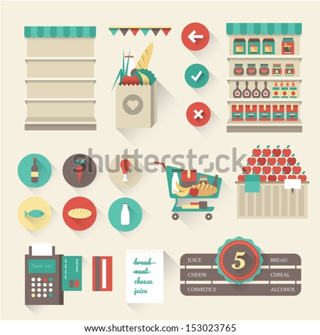 Vector supermarket icons