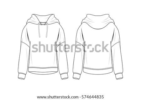 Vector Sweatshirt Template Stock-Vektorgrafik 574644835 – Shutterstock