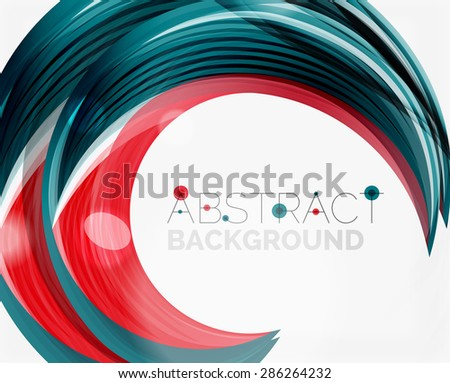 Vector swirl line abstract background. Modern layout for your message, slogan or brand name - stock vector