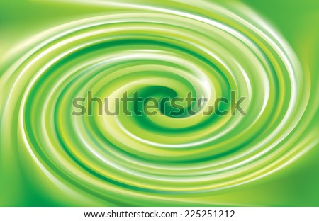 Vector swirling backdrop. Beautiful spiral liquid surface light green color - stock vector