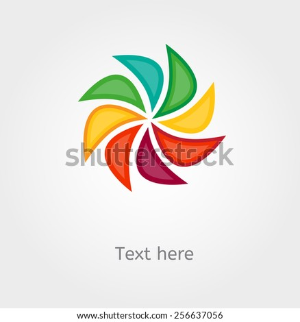 Vector swirling backdrop with place for text - stock vector