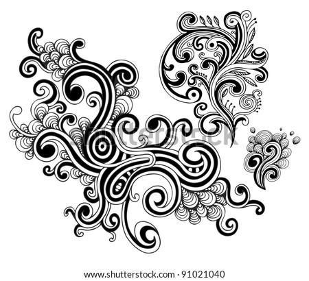 Vector swirls set - stock vector