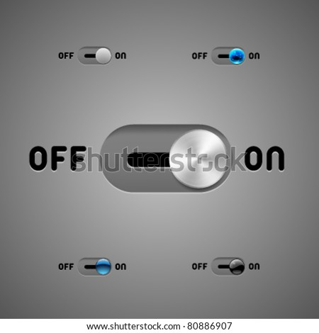 Vector Switch Buttons - stock vector