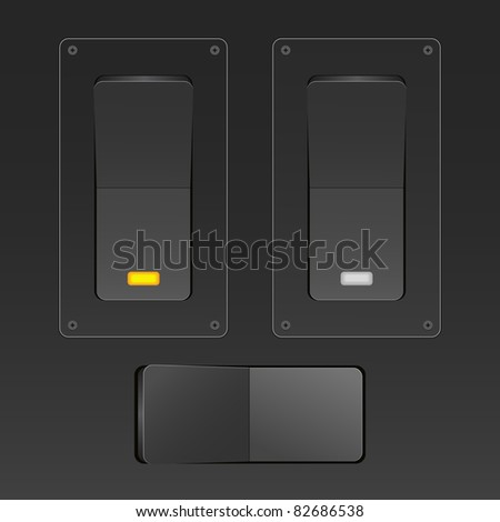 Vector switches - stock vector