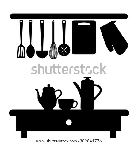 Kitchen Silhouettes Stock Images, Royalty-Free Images ...