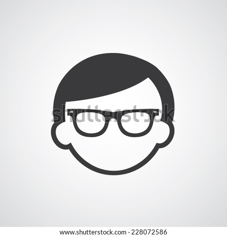 vector symbol  man glasses style   - stock vector