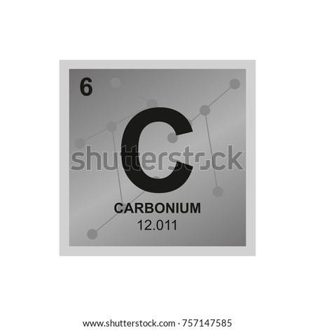 Vector symbol carbon periodic table elements stock vector hd vector symbol of carbon from the periodic table of the elements on the background from connected urtaz Gallery
