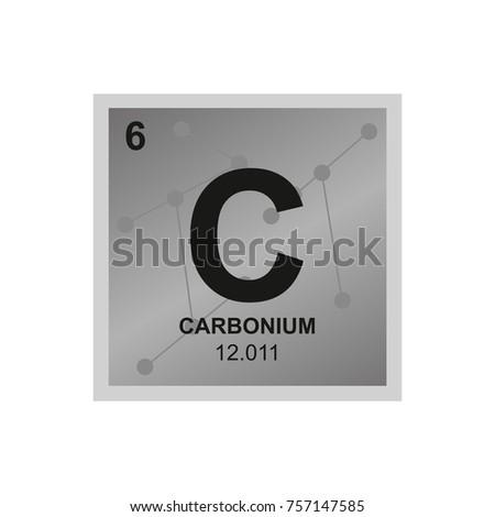 Vector Symbol Carbon Periodic Table Elements Stock Vector Hd