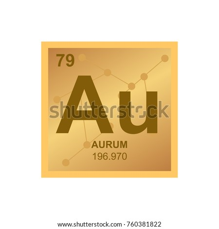 Vector symbol gold periodic table elements stock vector 760381822 vector symbol of gold from the periodic table of the elements on the background from connected urtaz Image collections