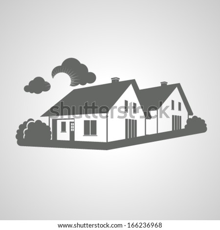 Vector Symbol Home Group Houses Icon Stock Vector Royalty Free