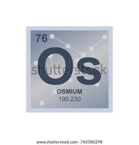 Vector symbol osmium periodic table elements stock vector 760380298 vector symbol of osmium from the periodic table of the elements on the background from connected urtaz Choice Image