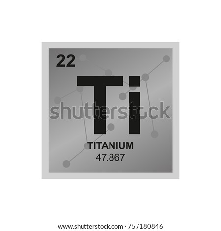 Titanium stock images royalty free images vectors shutterstock vector symbol of titanium from the periodic table of the elements on the background from connected urtaz Image collections